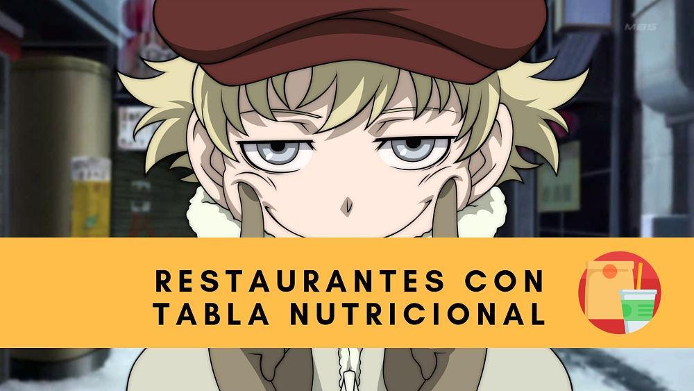 tablas nutricionales